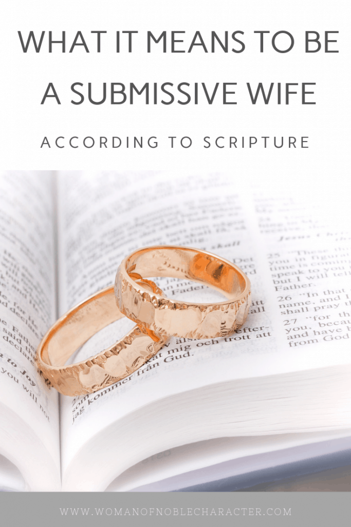 submissive wife - what does it mean to be submissive