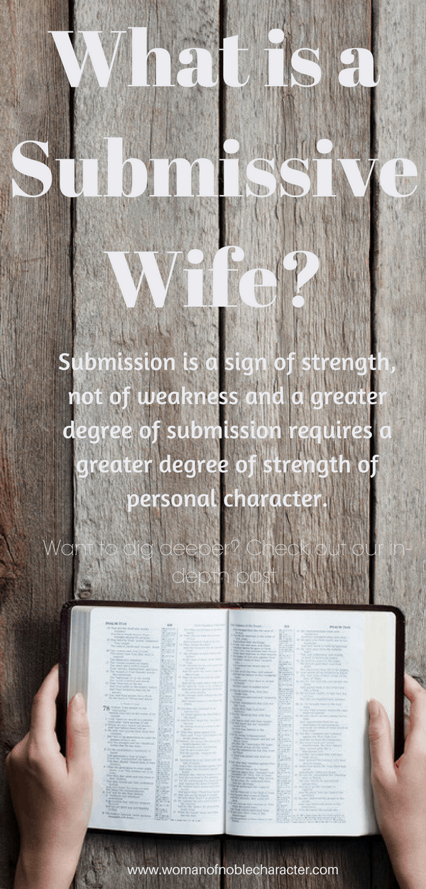 what is means to be a submissive wife and what it doesn't mean