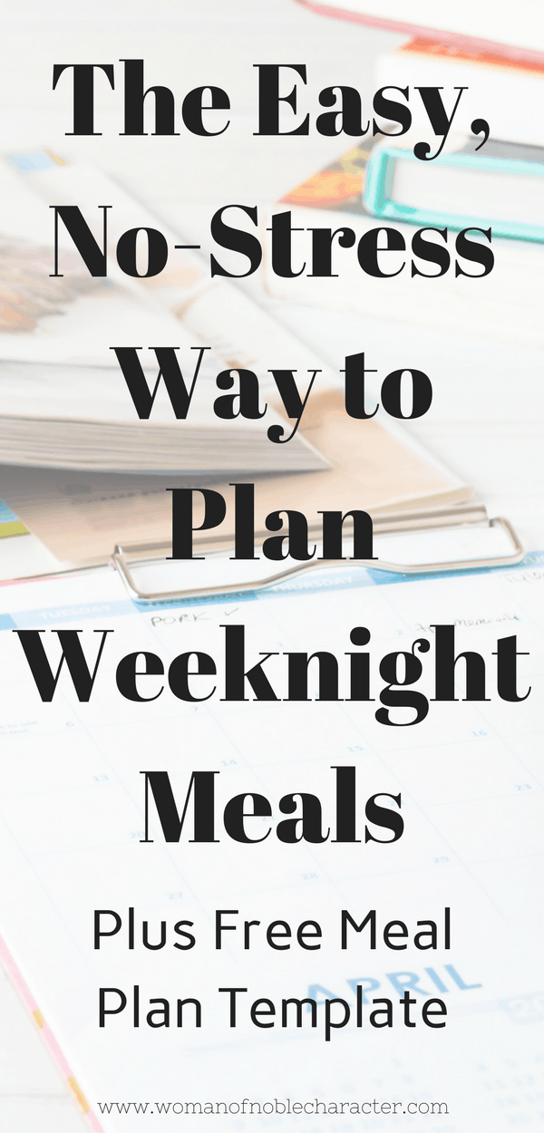 The Easy, No-Stress Way to Plan Weeknight Meals
