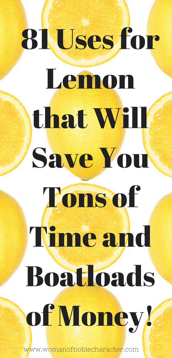 81 Amazing Household Uses for Lemons - Pin