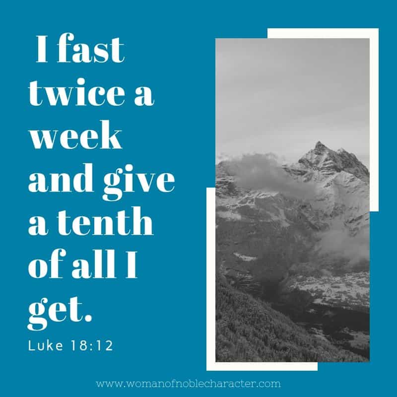 fasting in the Bible