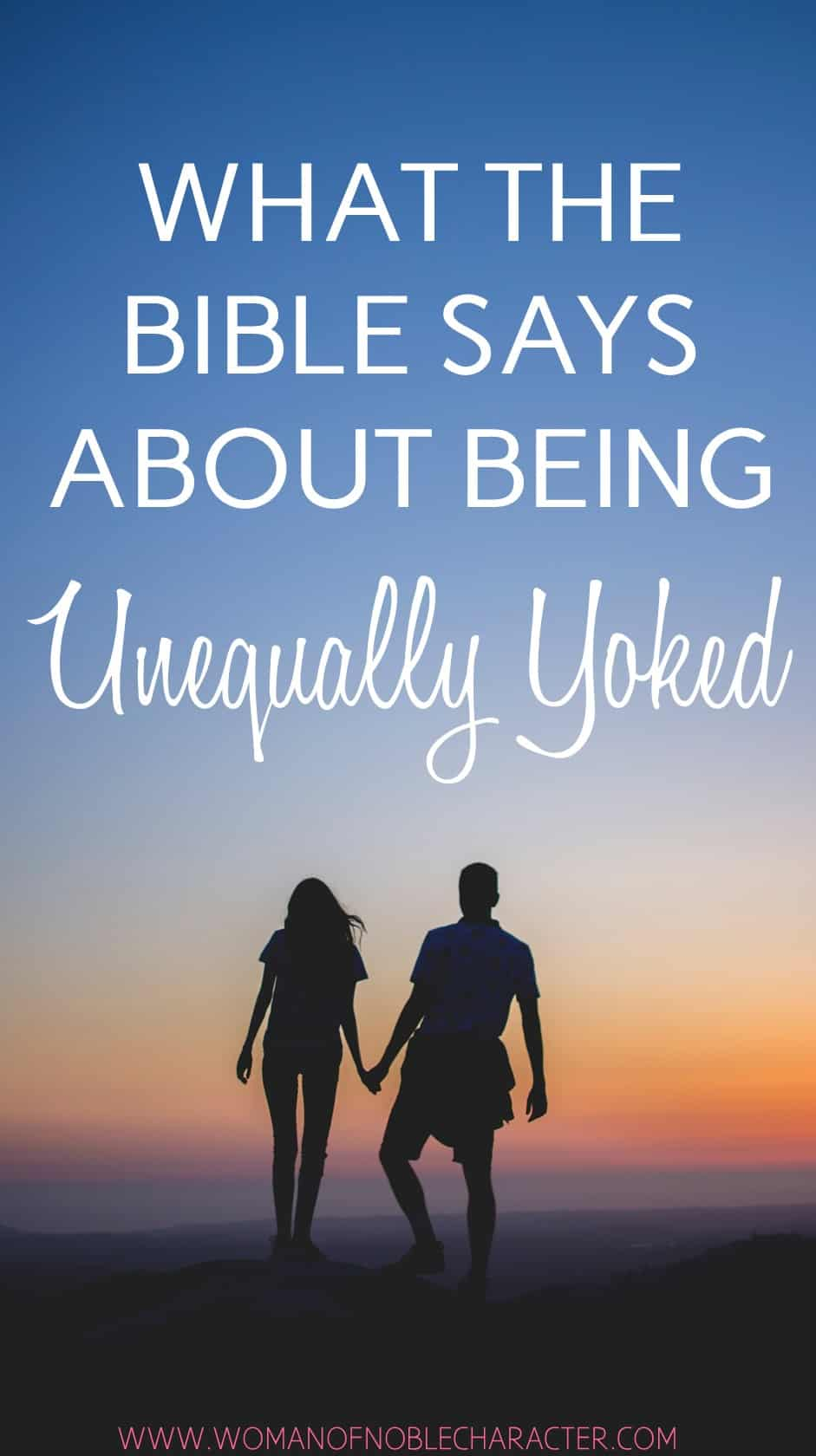 image couple holding hands at sunset with test what the Bible says about being unequally yoked for the post Unequally Yoked - What the Bible Says and Your Powerful Opportunity