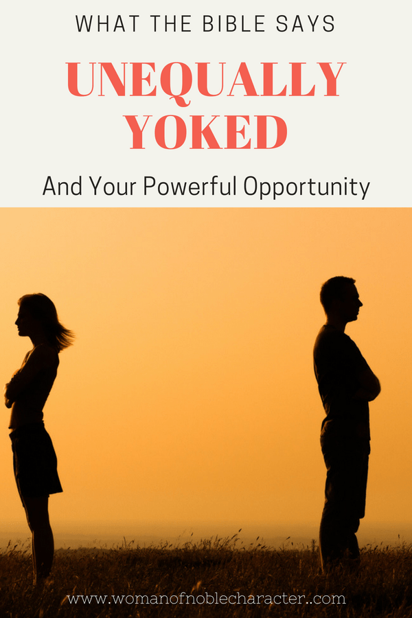 married to an unbeliever, unequally yoked, what the Bible says about being unequally yoked