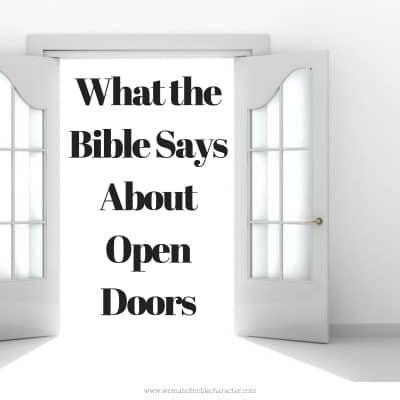 Open doors in the Bible
