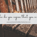 Who do you agree that you are?