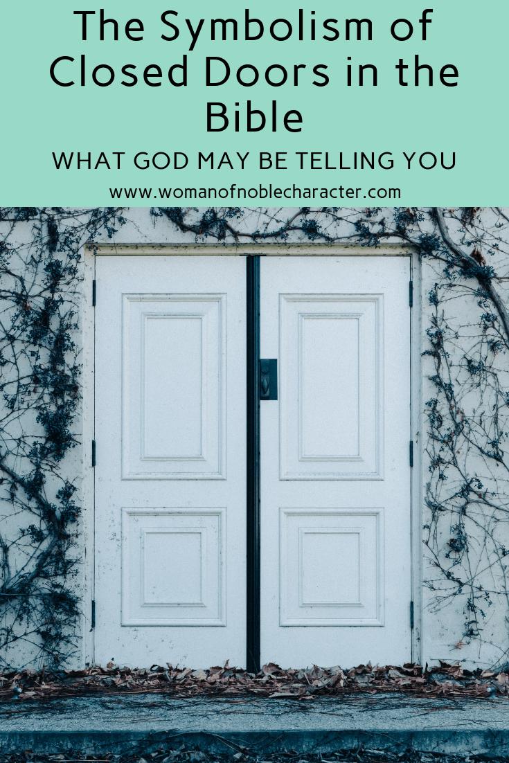 closed doors in the Bible, Bible symbolism of closed doors