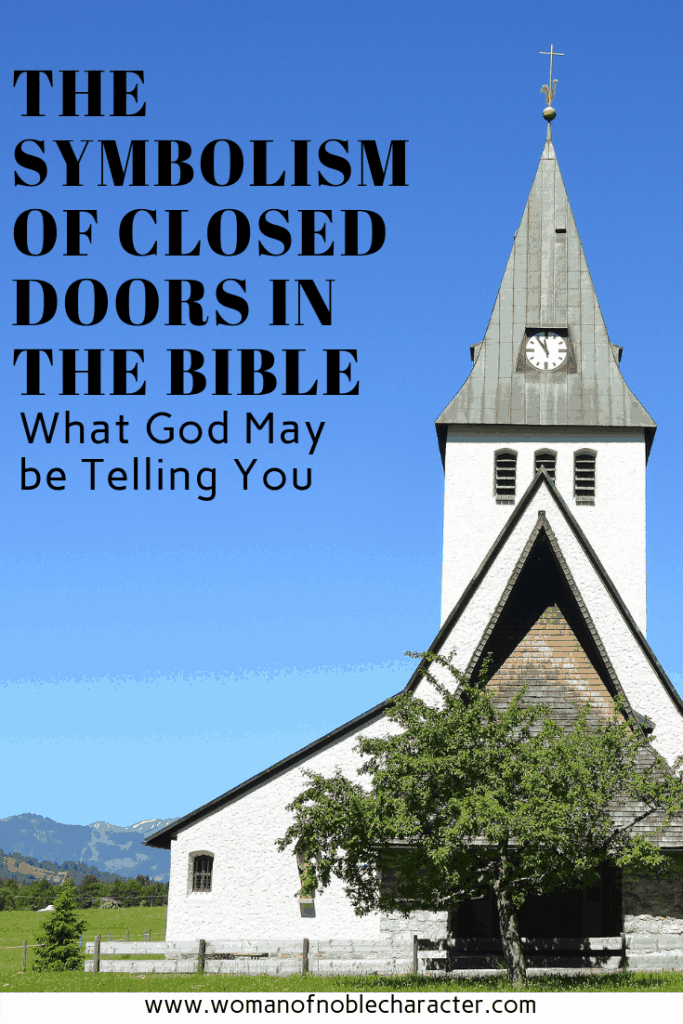 closed doors in the Bible and what they may mean
