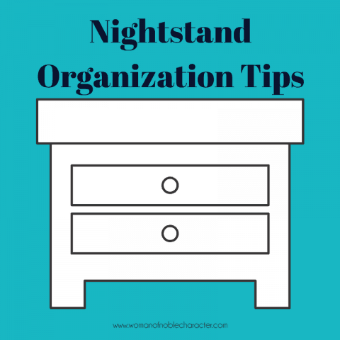 Nightstand Organization Tips