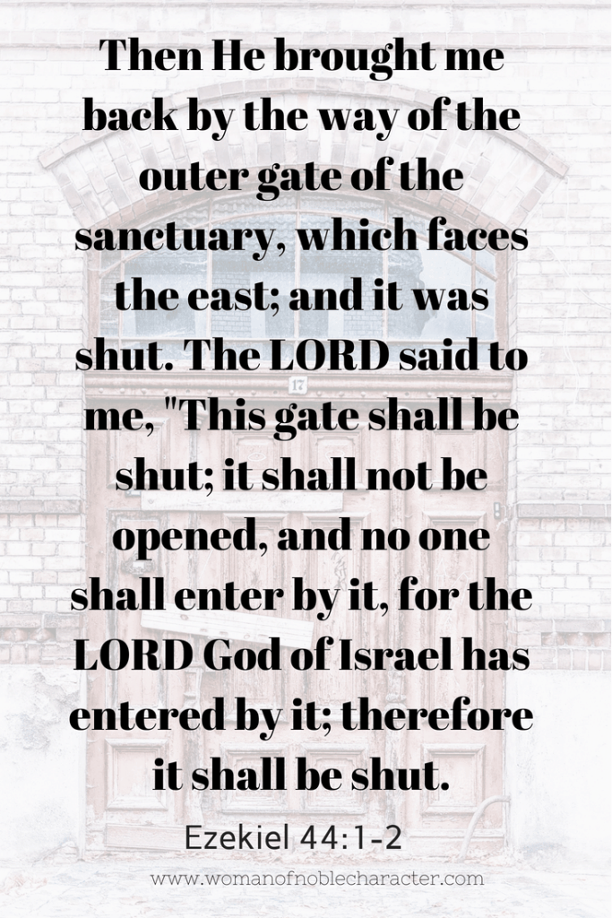 closed doors in the Bible, Bible symbolism of closed doors