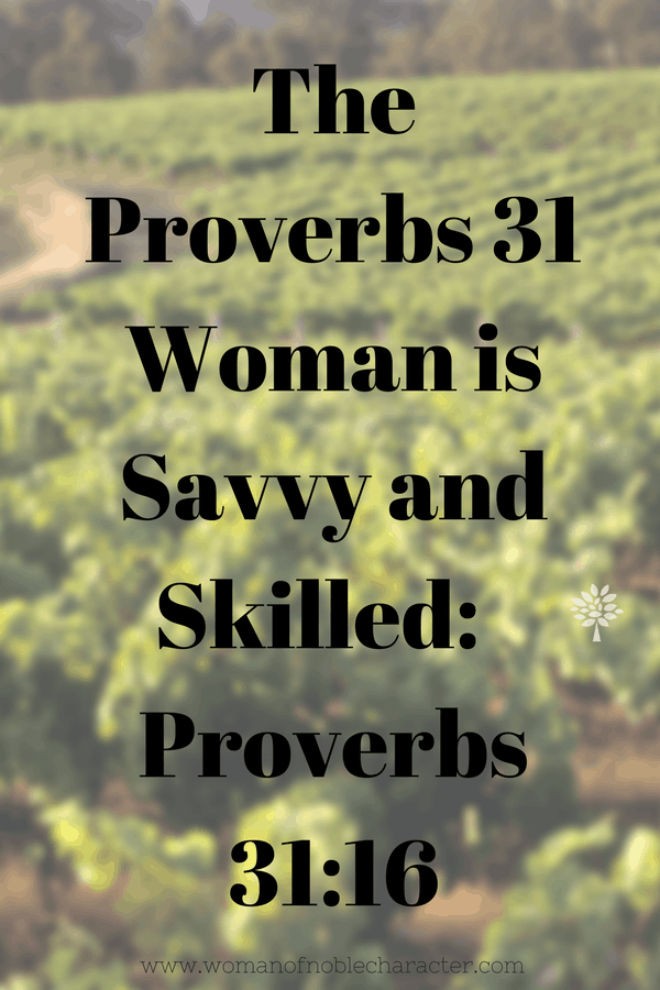 savvy and skilled Proverbs 31, the Proverbs 31 woman, Proverbs 31:16