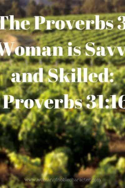 Proverbs 31 savvy and skilled