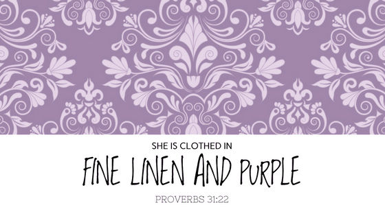 Clothed in fine linen and purple