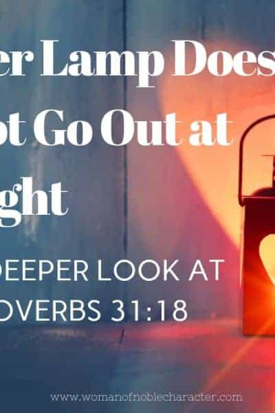 Her Lamp Does Not Go Out At Night
