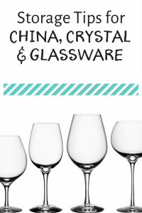 Storage Tips for China, Crystal and Glassware, dining room organization