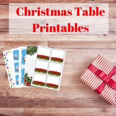 Christmas Table Printables