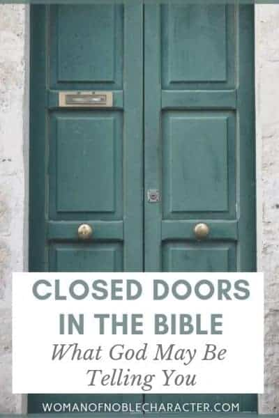 Closed doors in the Bible