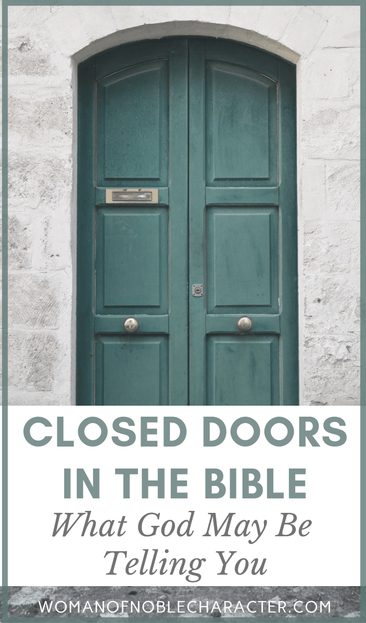 Symbolism of closed doors in the Bible