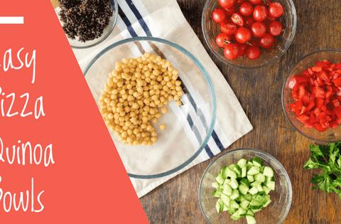 Easy Pizza Quinoa Bowls