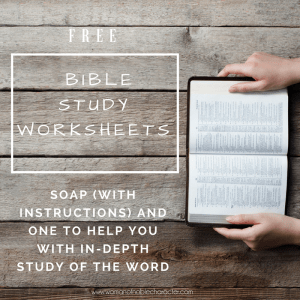 Free Bible Study Worksheets optin