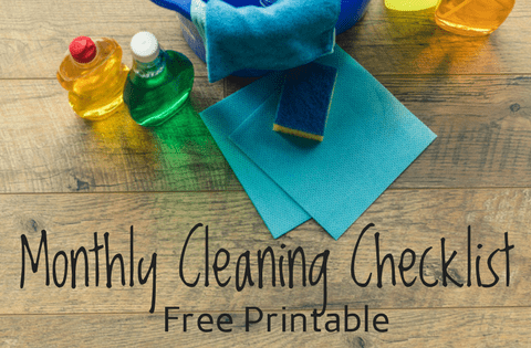 Monthly Cleaning Checklist free printable Bible verses about cleaning