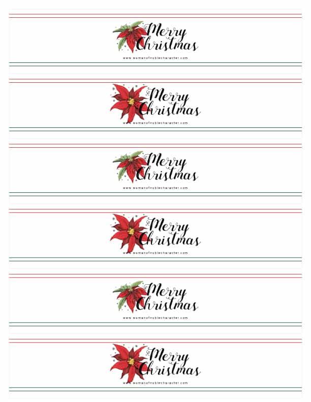 printable Christmas table napkin wraps