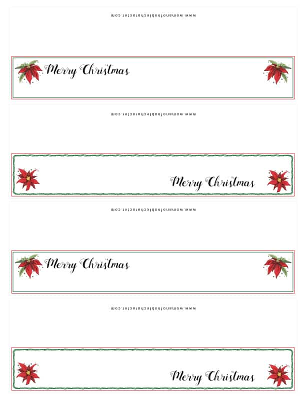 Christmas table printables place cards