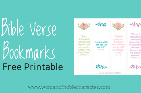 Bible Verse Bookmarks free printable
