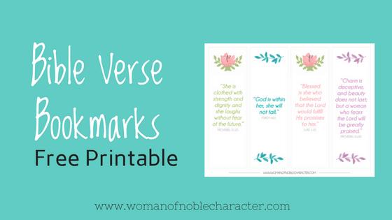 Bible Verse Bookmarks free printable