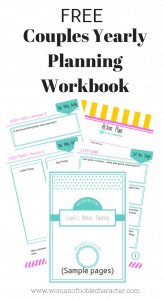 Couples Yearly Planning Workbook, free printable