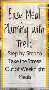 Easy Meal Planning with Trello