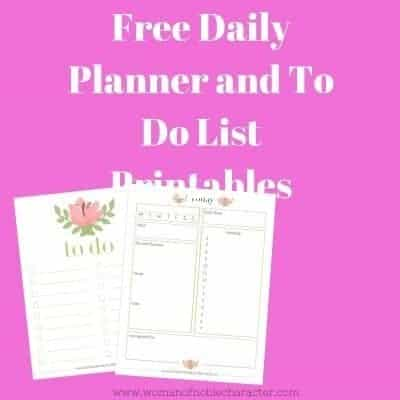 Free Daily Planner and To Do List Printables