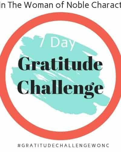 Gratitude Challenge for Christian Women