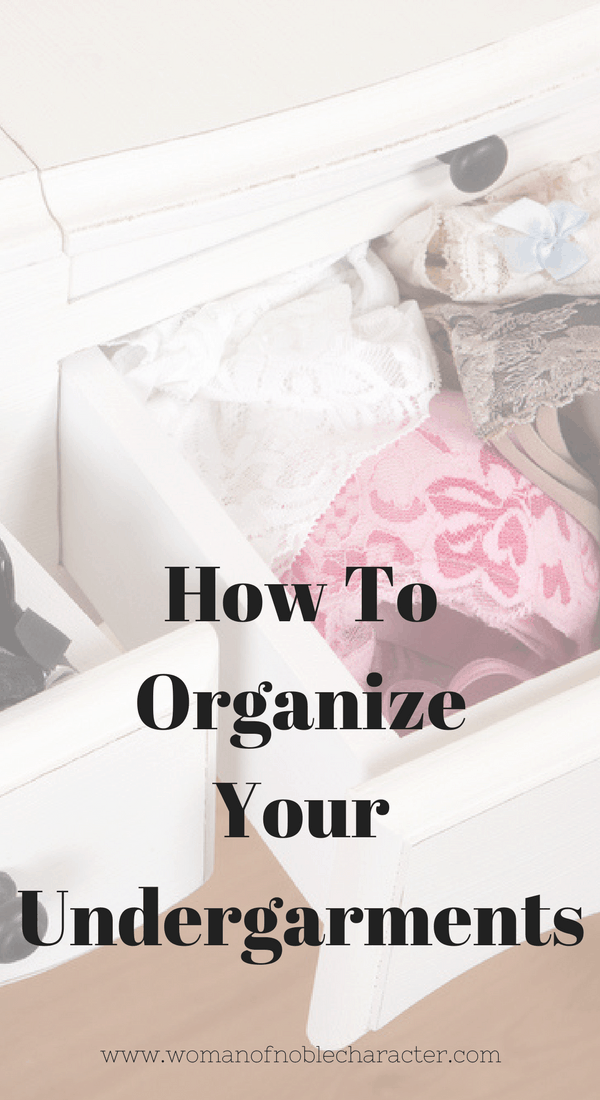 organize your bras and panties