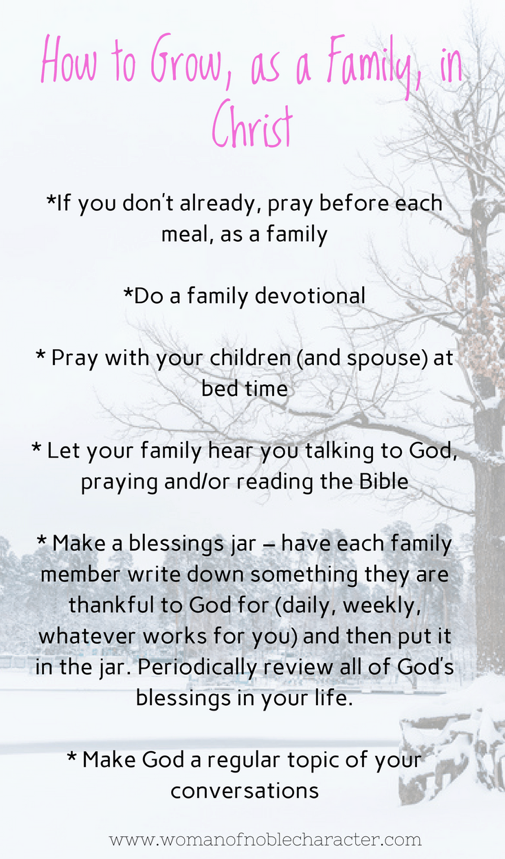 How to Grow as a family in Christ