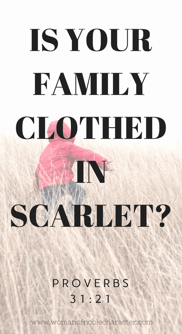 Is Your Family Clothed in scarlet_