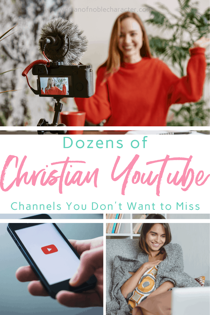 A collage of images related to YouTube and a text overlay that says Dozens of Christian YouTube Channels You Don't Want to Miss