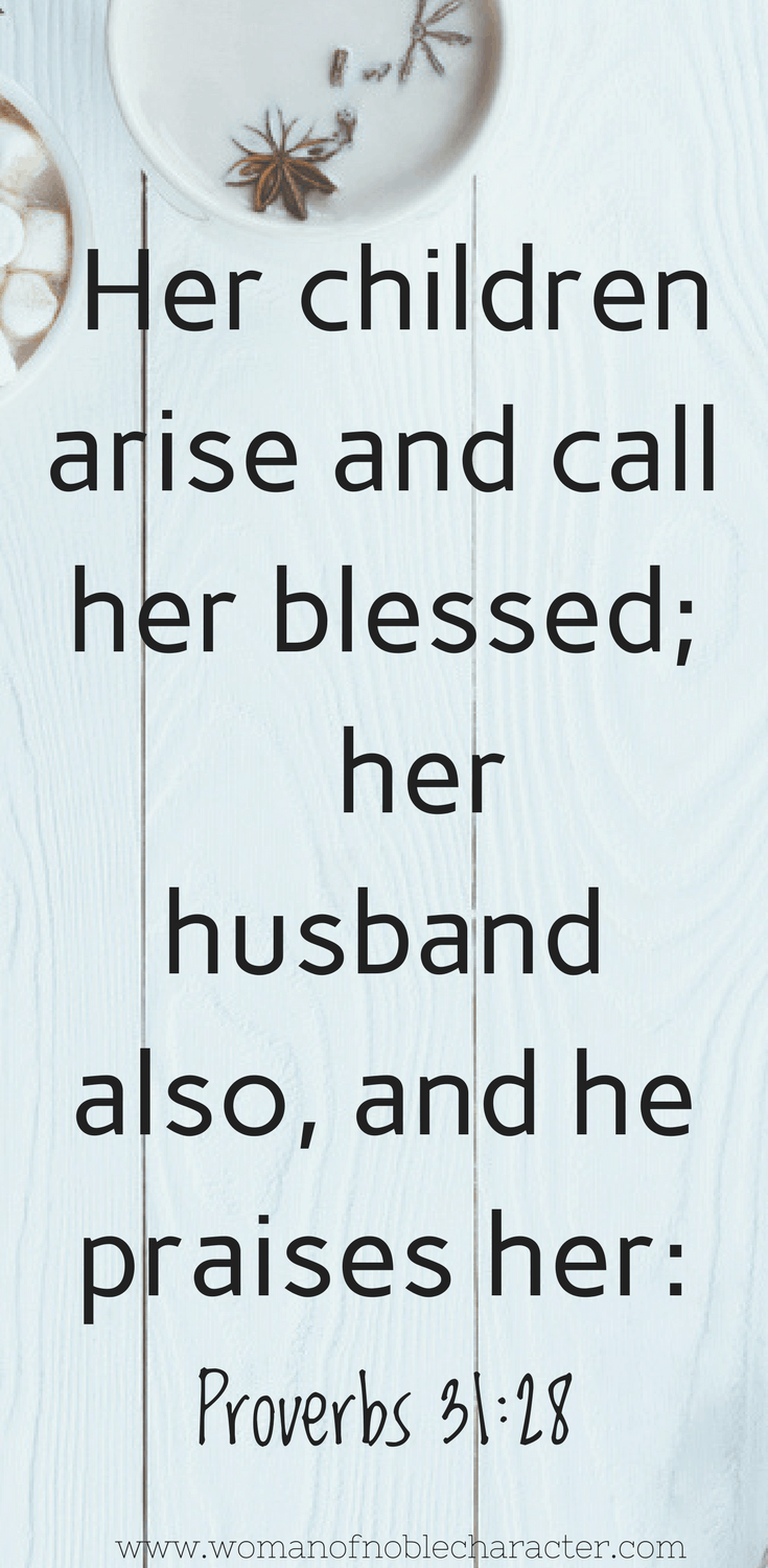 Christian motherhood Proverbs 31_28