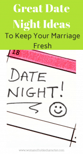 Great Date Night Ideas dating your husband