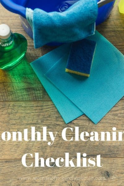Monthly Cleaning Checklist