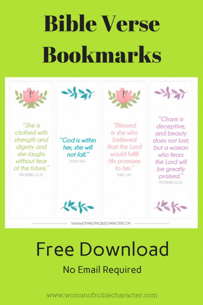 Bible Verse Bookmarks