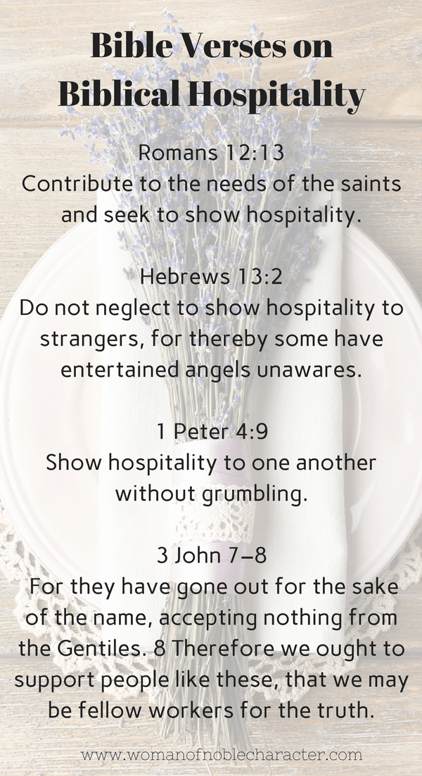 Bible Verses on Biblical Hospitality