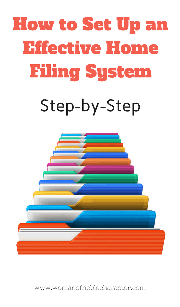 How to Set Up an Effective Home Filing System Home office files home office filing system home office organization