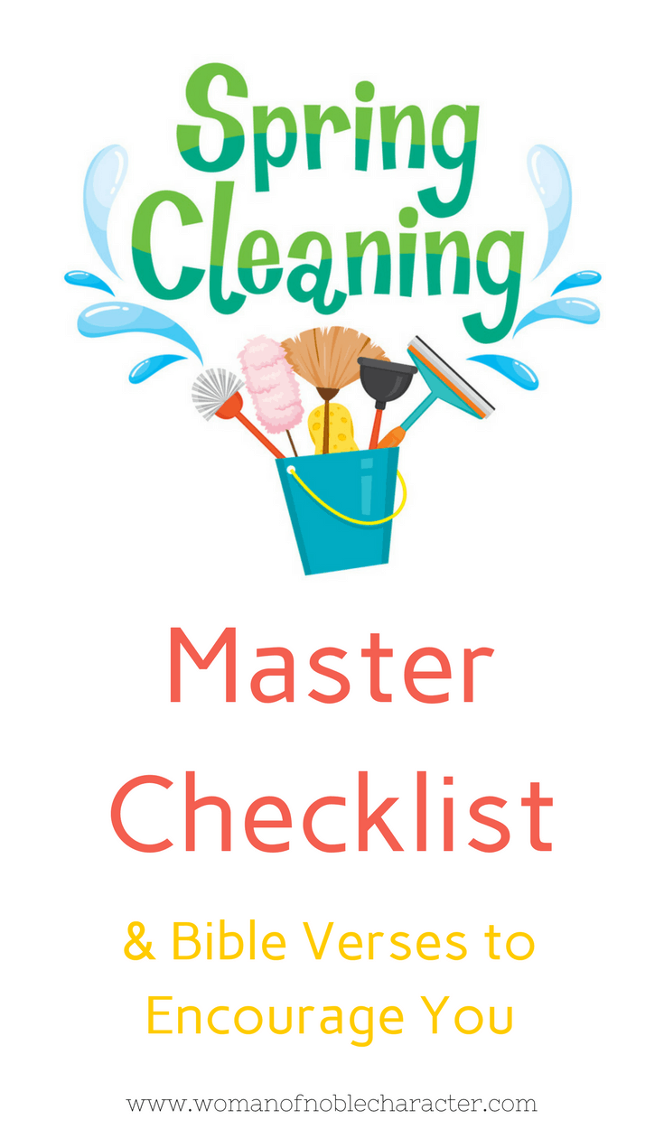 Master Spring Cleaning Checklist