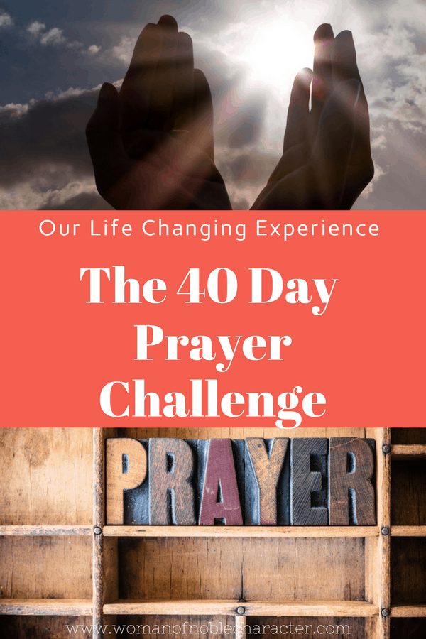 40 Day Prayer Challenge My experience and journey