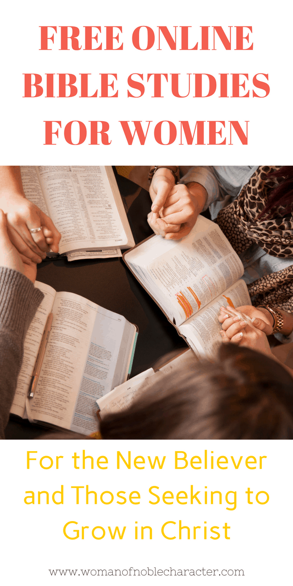 free online Bible studies for women to grow closer to God and His Word