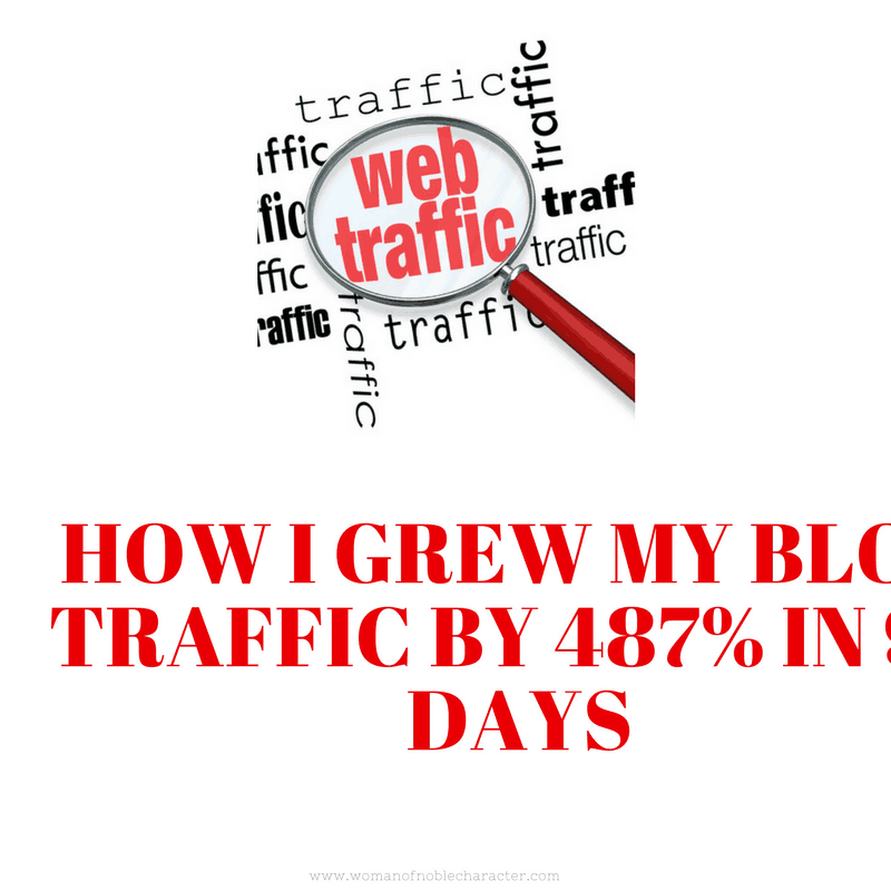 HOw I Grew my Blog traffic by 487% in 90 Days (1) growing blog traffic increasing blog traffic