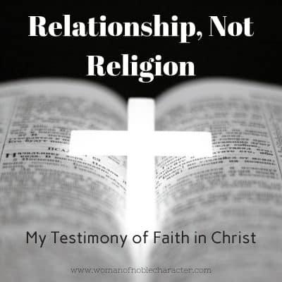 Relationship not religion, my testimony