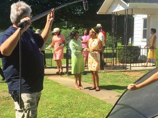 Movie set of Summer of '67 with Sharrone Lanier