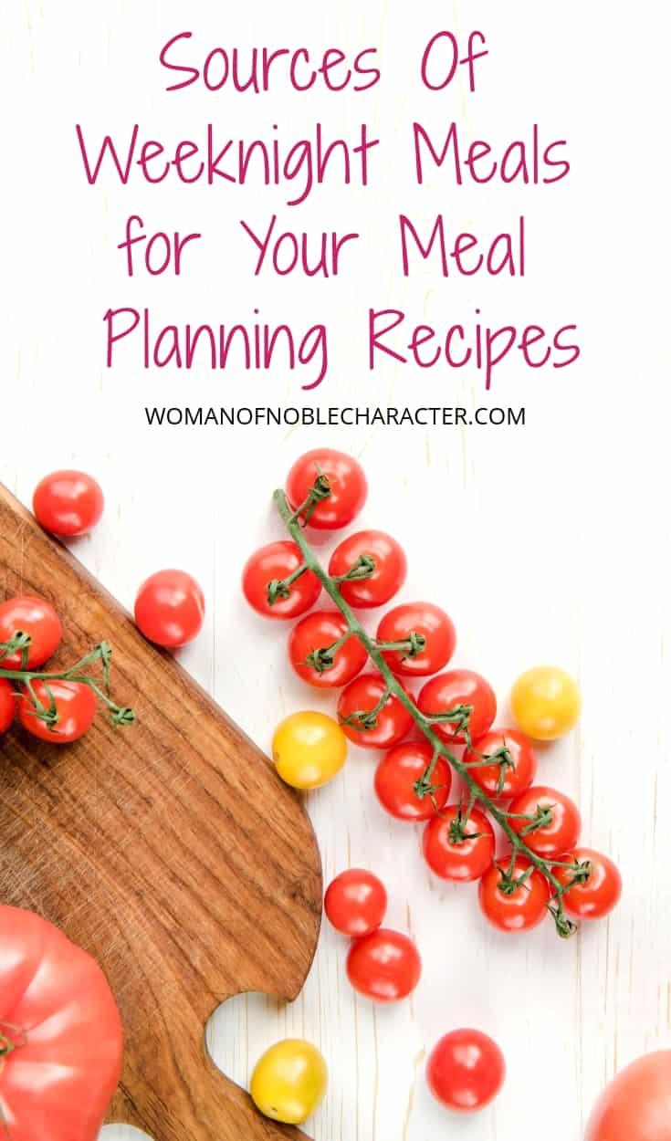 weeknight meal ideas