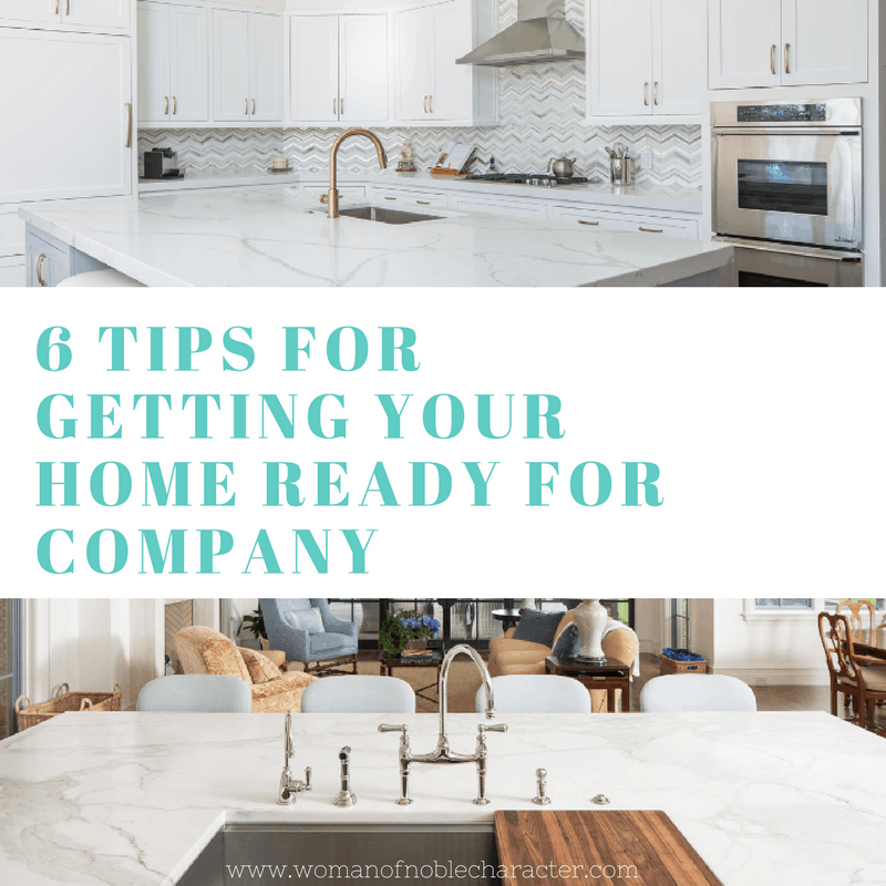 6 Tips for Getting Your home and counter ready for company